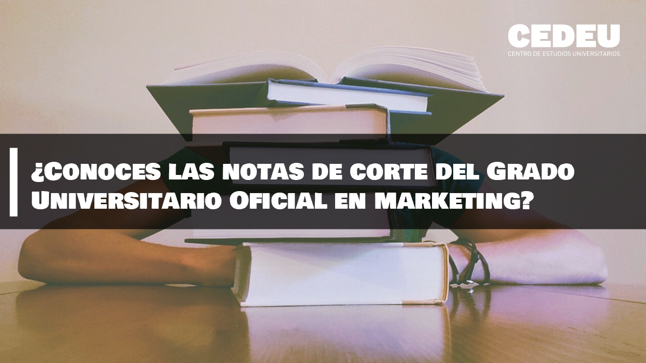¿Conoces las notas de corte del Grado Universitario Oficial en Marketing?